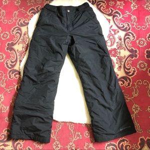 Columbia medium kids Sz 10/12 black ski snow pants